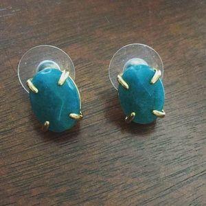 Jewelry - Dark teal stone studs